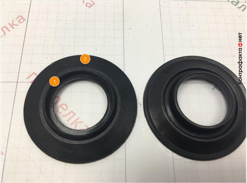 1. Форма и размер обратного клапана отличается. | 2. Отсутствует маркировка.