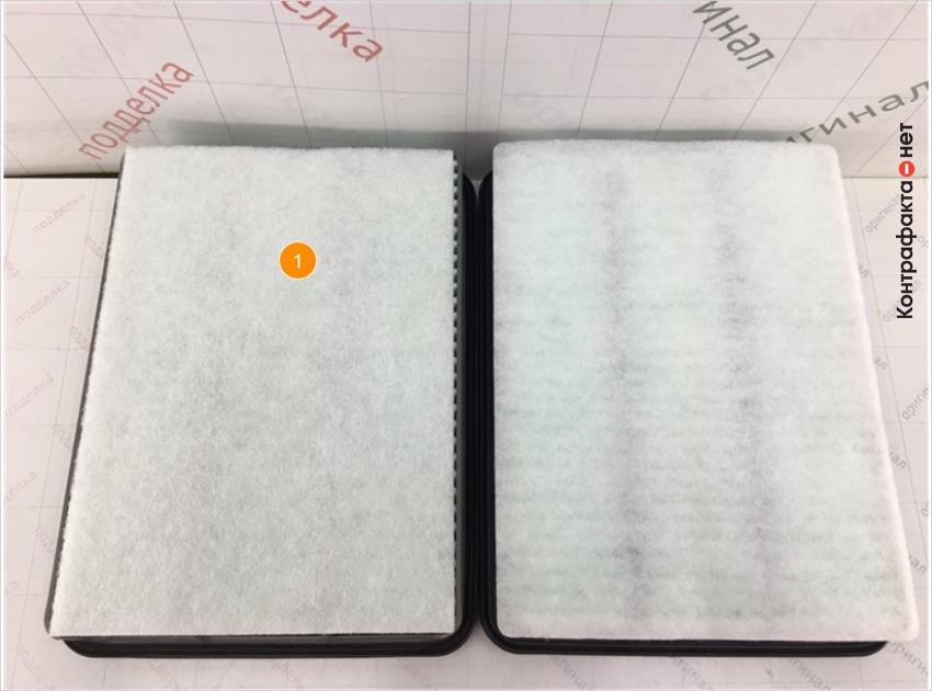 1. Отличается размер и плотность синтепоновой накладки, в оригинале углы закругленные.