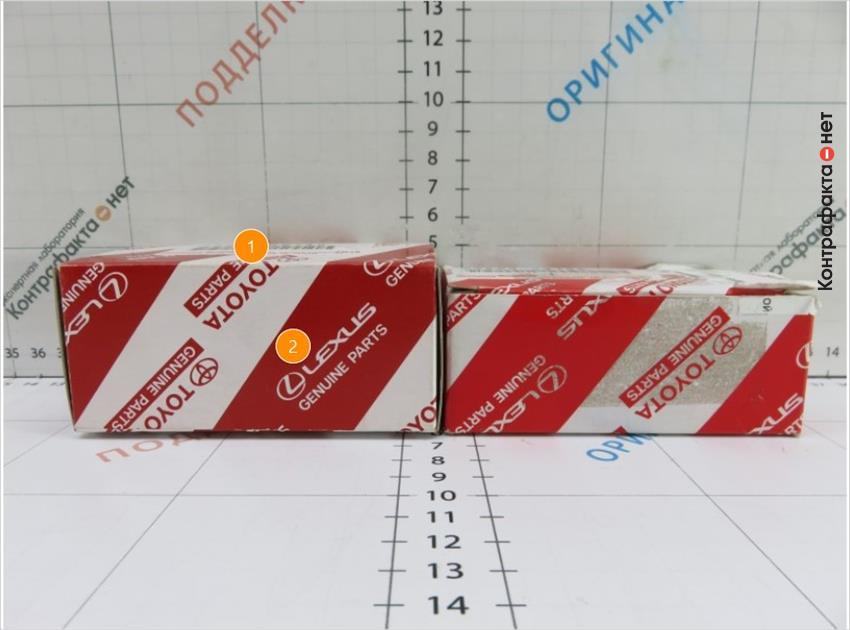 1. Индивидуальная упаковка большего размера.   2. Темный оттенок дизайна упаковки.