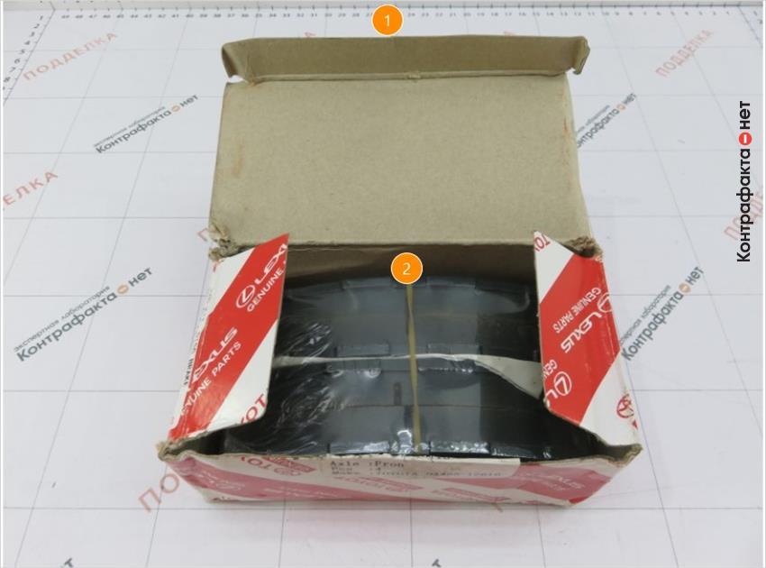 1. Отличается конструкция коробки. | 2. Колодки упакованы в дополнительную полиэтиленовую упаковку.