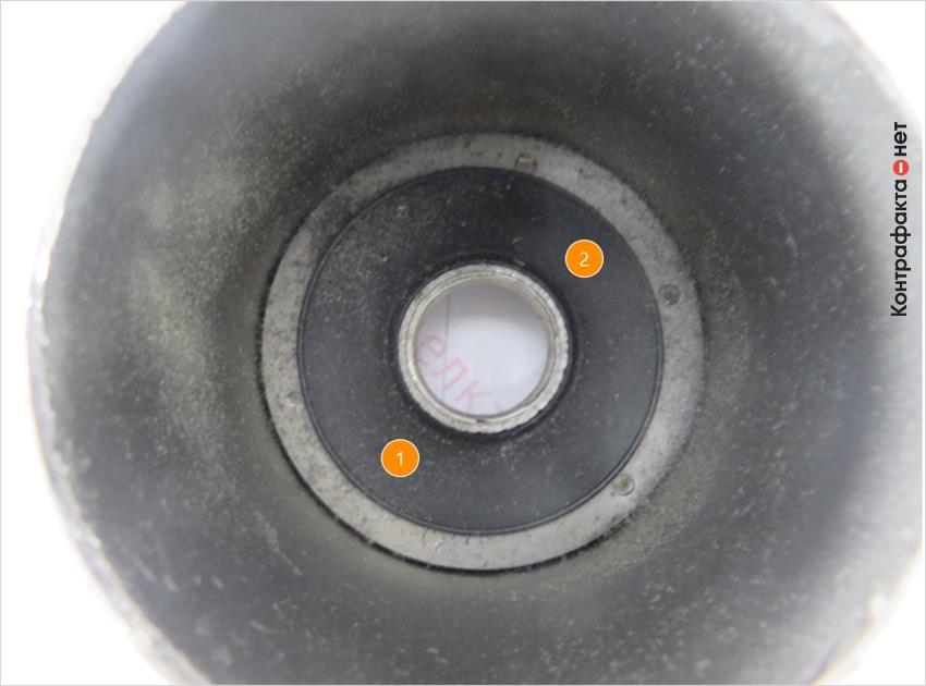 1. Отсутствует обработка внутренней резьбовой части. | 2. Отличается способ соединения корпуса фильтра с резьбовой частью, в оригинале использована точечная сварка.
