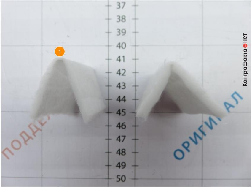 1. Тонкий слой фильтрующего материала.