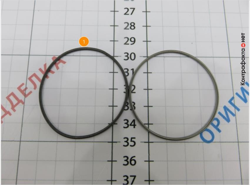 1. Оттенок металла стягивающей пружины не соответствует оригиналу.