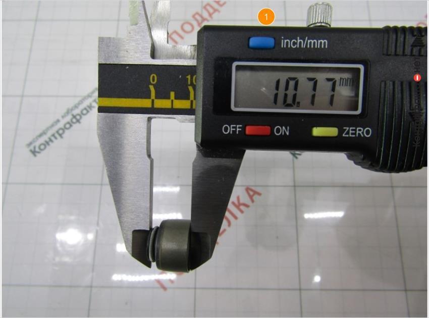1. Высота колпачка 10, 77мм( у оригинала 10, 14мм).