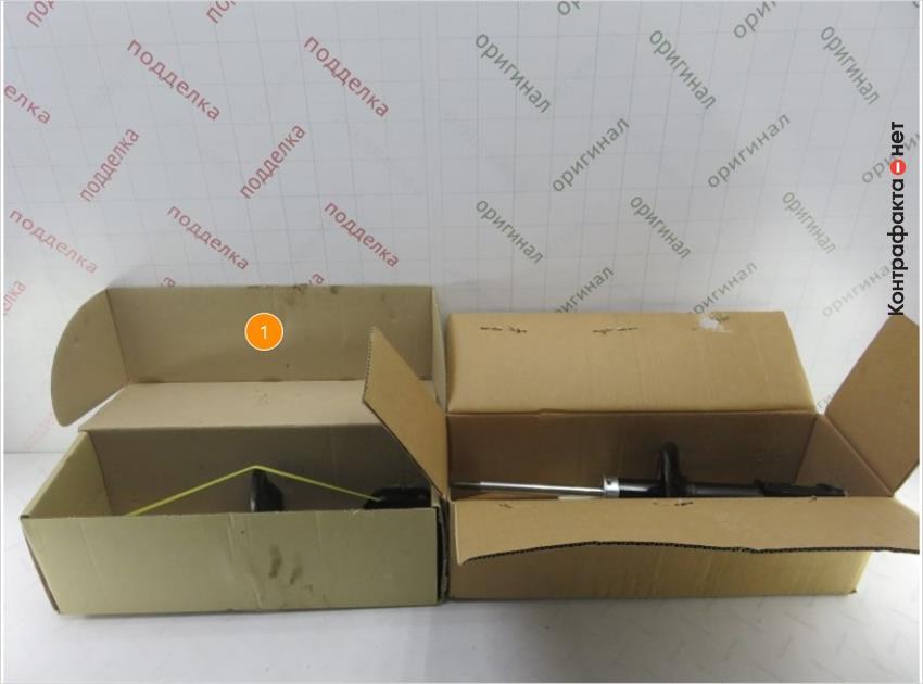 1. Присутствуют отличия в конструкции упаковок.