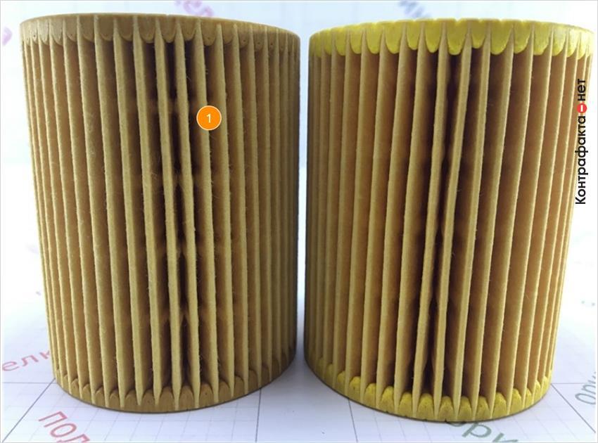 1. Отличается материал, кол-во, плотность сот фильтрующего элемента.