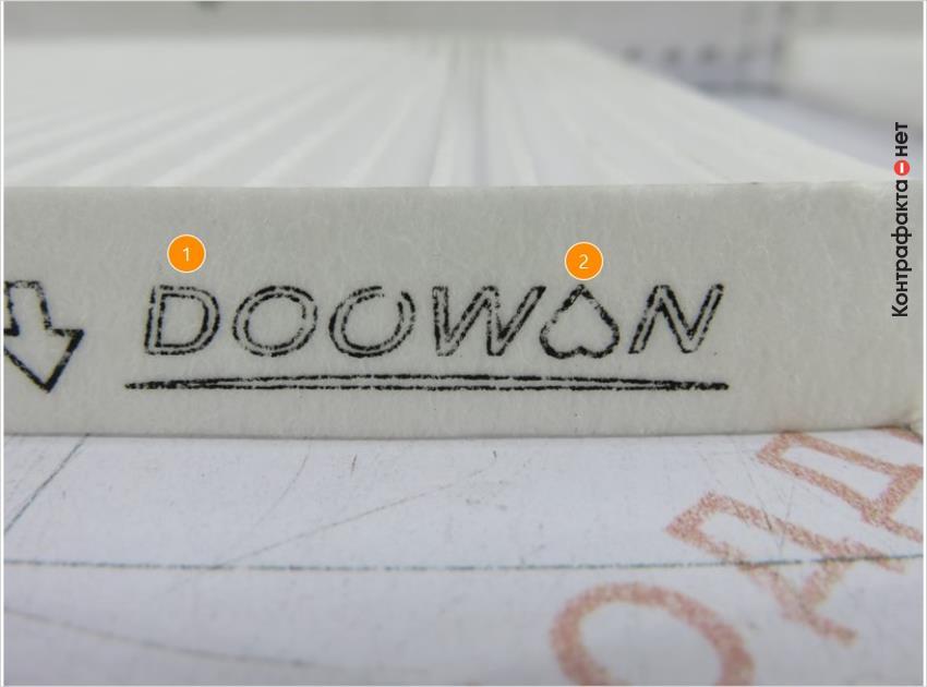 1. Разный способ нанесения маркировки. | 2. Шрифт и логотип марки не выдержан в корпоративном стиле.